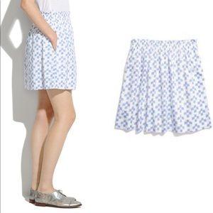 White blue pattern Madewell skirt XS